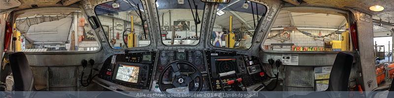 Vrije bewerking van vier KNRM-stuurhutten