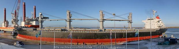 Ocean Victory veilig afgemeerd in IJmuiden
